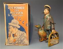 MARX JOE PENNER & HIS DUCK GOO GOO WINDUP & BOX
