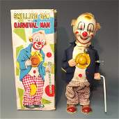 ALPS SMILING SAM CARVINAL MAN CLOWN & BOX