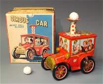 KO YOSHIYA JAPAN CIRCUS CAR BALL BLOWER & BOX