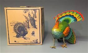 B&S GERMAN TURKEY TIN WINDUP & BOX