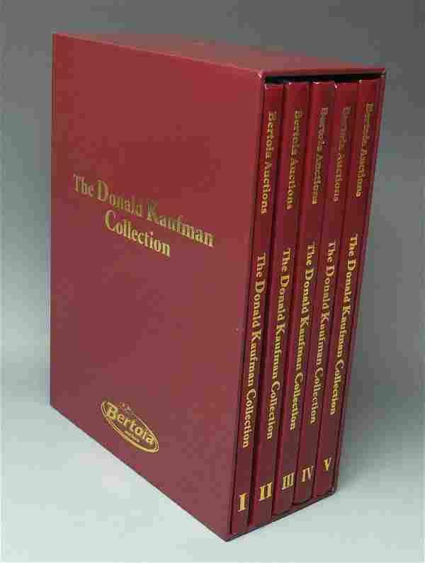 5 DONALD KAUFMAN BERTOIA AUCTION CATALOGS