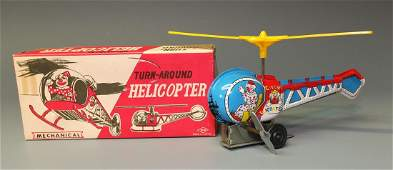 YONEZAWA CLOWN HELICOPTER WINDUP & BOX
