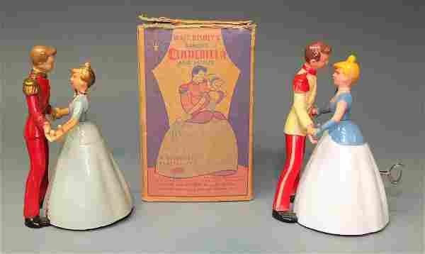 2 IRWIN DANCING CINDERELLA & PRINCE WINDUPS & BOX