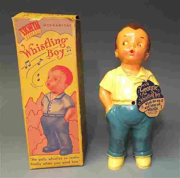IRWIN GEORGIE WHISTLING BOY WINDUP & BOX
