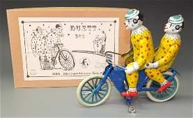 DBS GERMAN DUET CLOWNS RIDING BICYCLE & BOX