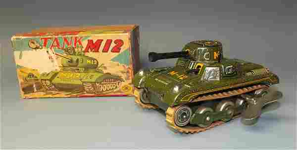 MODERN TOYS M12 TIN WINDUP TANK & BOX