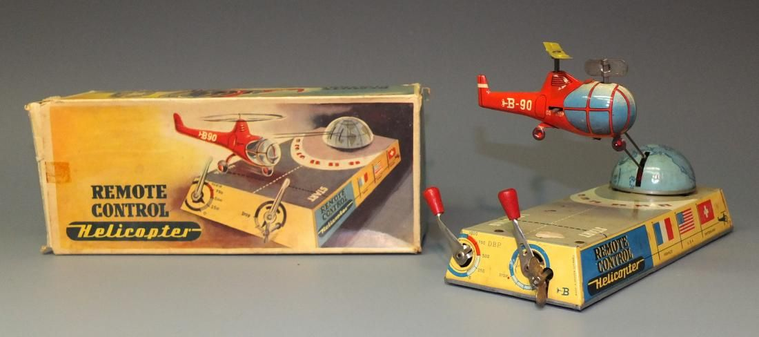 BILLER GERMAN REMOTE CONTROL HELICOPTER & BOX