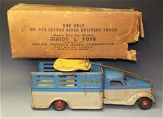 BUDDY L DELUXE RIDER DELIVERY TRUCK & BOX