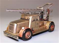 KELLERMAN GERMAN WINDUP LADDER FIRE TRUCK