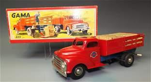 GAMA GERMAN TIN STAKE TRUCK 255 & BOX