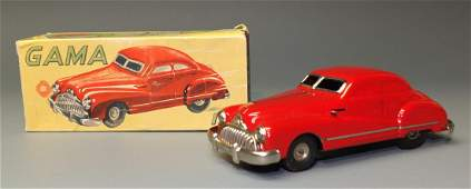 GERMAN GAMA 100 TIN WINDUP CAR & BOX