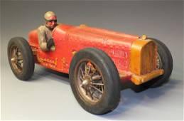 "LARGE 20"" WOOD GRAND PRIX RACER w/DRIVER"