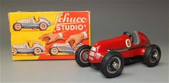 SCHUCO STUDIO WINDUP RACER #1050 & BOX