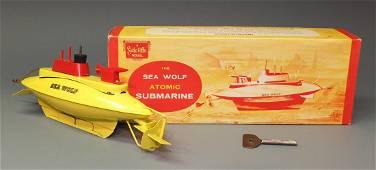 SUTCLIFFE SEA WOLF ATOMIC SUBMARINE & BOX