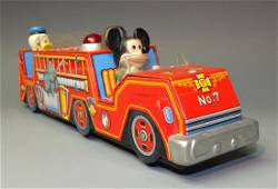 MODERN TOYS MICKEY MOUSE DONALD DUCK FIRE ENGINE