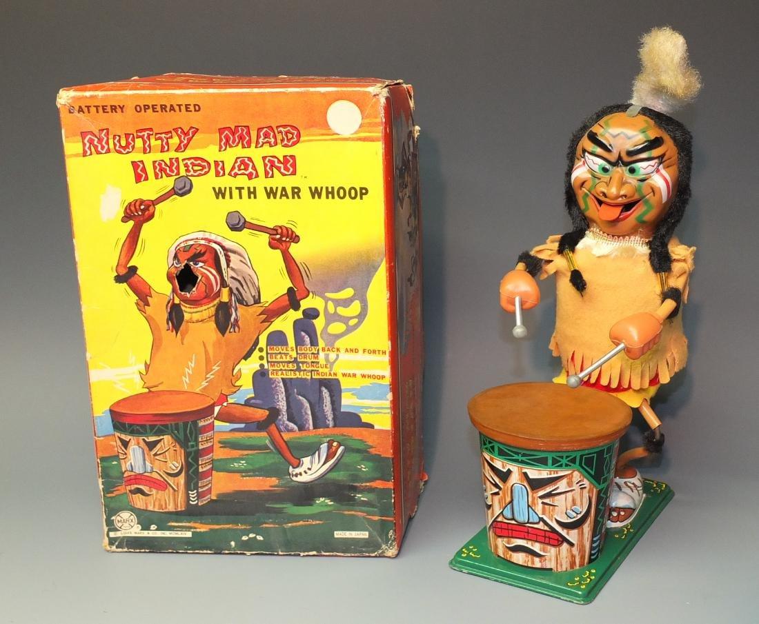 MARX NUTTY MAD INDIAN DRUMMER B/O & BOX