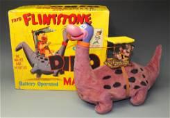 MARX FRED FLINTSTONE ON DINO BATTERY OP & BOX