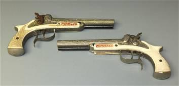 2 HUBLEY PIRATE CAP GUN PISTOLS
