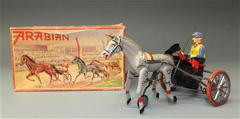 GERMAN ARABIAN HORSE RACER WINDUP & BOX