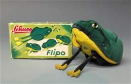 SCHUCO GERMAN 930 FLIPO WINDUP FROG & BOX