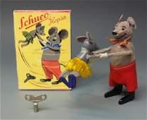 SCHUCO GERMAN 960 HOPSA MOUSE DANCING COUPLE WINDUP &