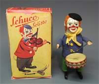SCHUCO GERMAN 986/1 SOLISTO CLOWN DRUMMER WINDUP & BOX