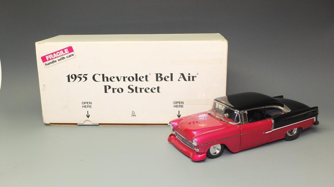 DANBURY MINT 1955 CHEVY BEL AIR PRO STREET 1:16 SCALE
