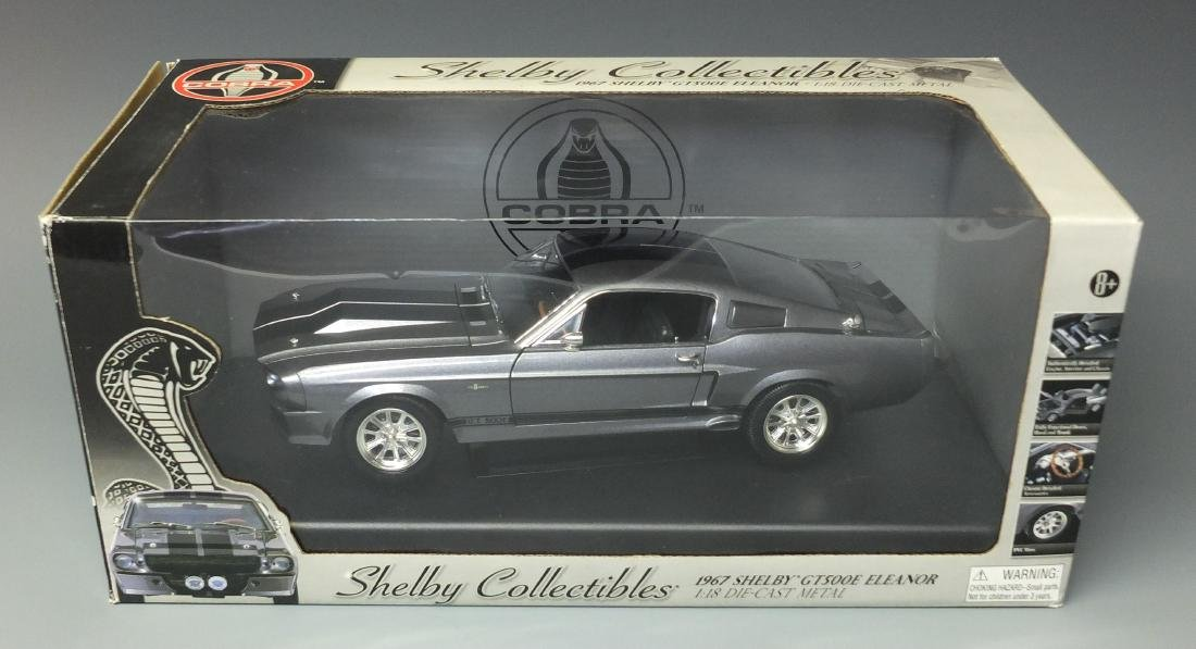 SHELBY COLLECTIBLES GRAY 1967 SHELBY GT500E ELEANOR