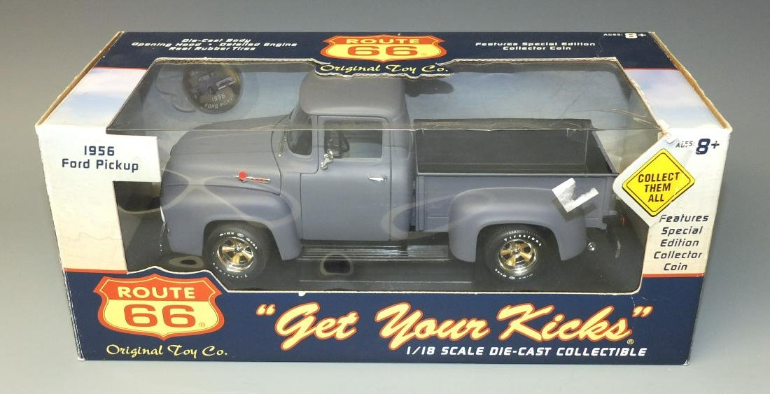 ORIGINAL TOY COMPANY ROUTE 66 1956 FORD PICKUP TRUCK w/