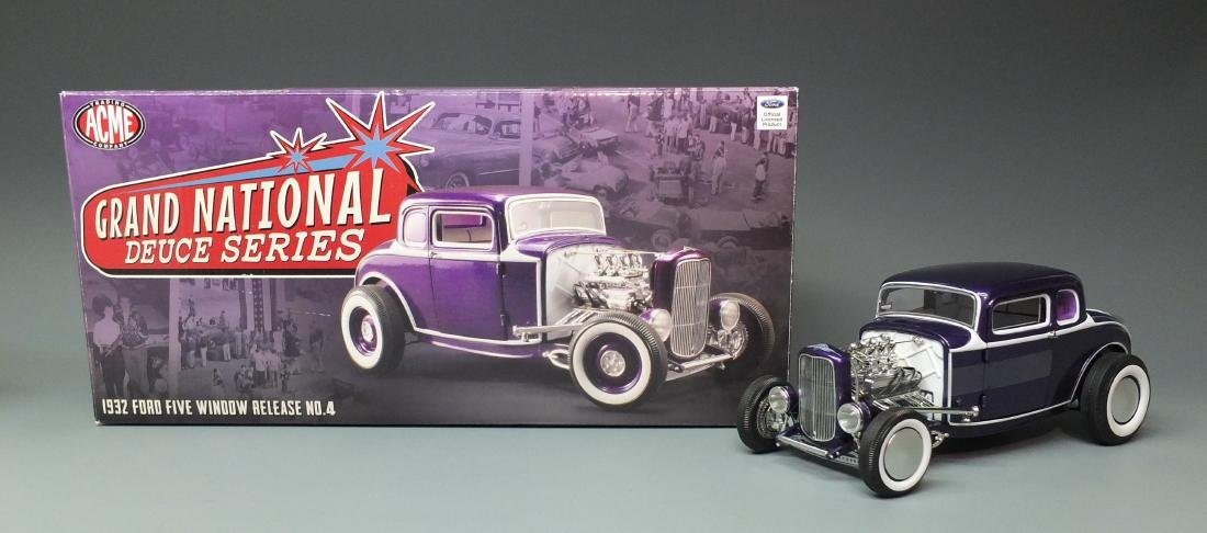 ACME PURPLE 1932 FORD 5 FIVE WINDOW COUPE GRAND