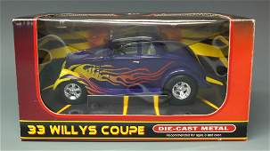 RARE 2002 FIRST GEAR 1933 FAST WILLYS COUPE DIECAST CAR