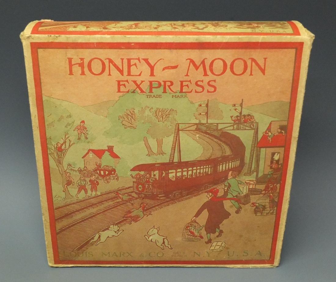 MARX 1st VERSION HONEYMOON EXPRESS TRAIN & BOX - 7
