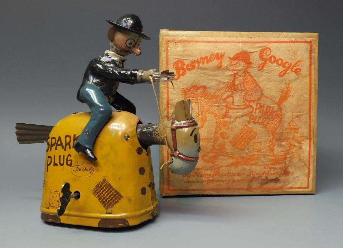 NIFTY GERMAN BARNEY GOOGLE & SPARK PLUG W/ BOX