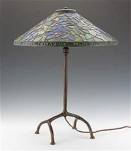 ANTIQUE TIFFANY STUDIOS CLEMATIS TABLE LAMP