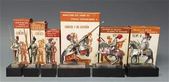6 MADRID REAL ARMERIA SPAIN KNIGHT FIGURES & BOX