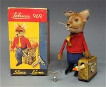 SCHUCO 969 FOX WITH SUITCASE WINDUP & BOX
