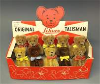SCHUCO 10 TALISMAN TEDDY BEARS IN TRADE BOX