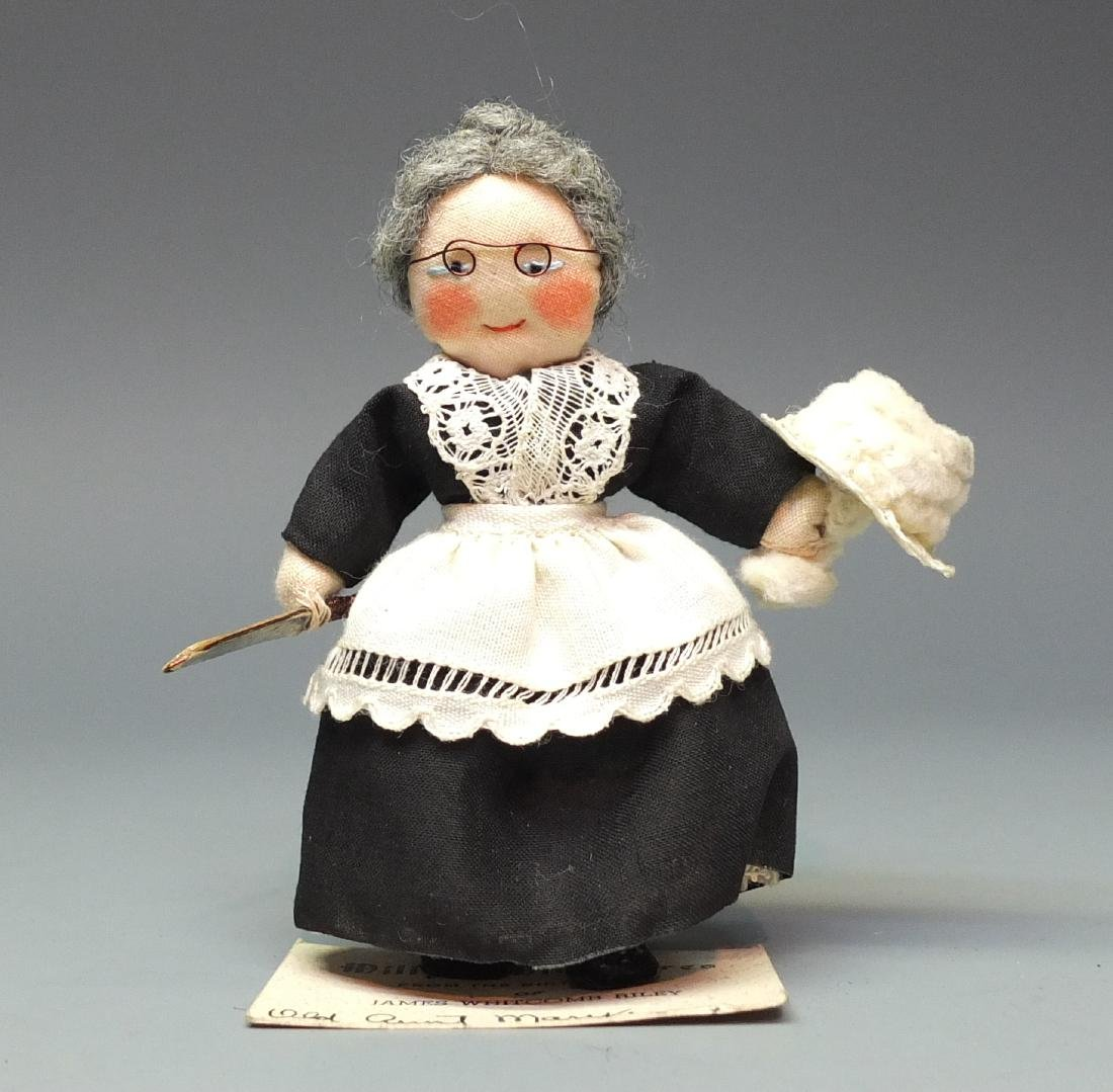 MILLY'S MINIATURES OLD AUNT MARY DOLL & BOX - 4