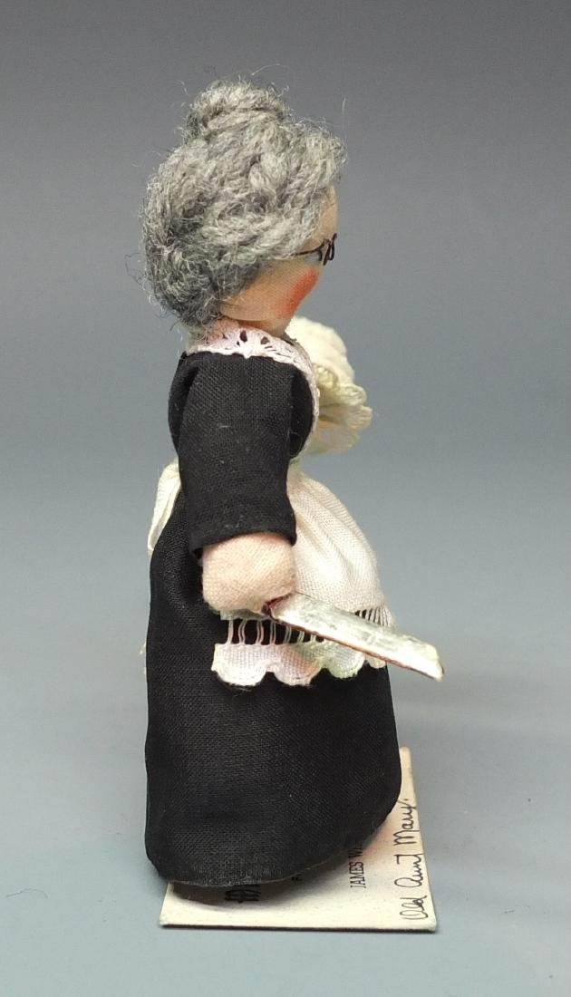MILLY'S MINIATURES OLD AUNT MARY DOLL & BOX - 7