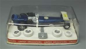 LINTOY HOT WHEEL DRAGSTERS DIECAST RACE CAR & CASE