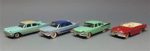 4 DINKY 1950's AUTOS 24A 178 191 192