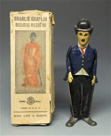 B&R CHARLIE CHAPLIN TIN WINDUP & RARE BOX