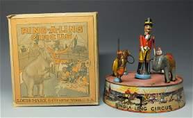 MARX RING A LING CIRCUS TIN WINDUP & BOX