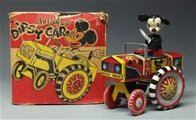LINEMAR DISNEY MICKEY MOUSE DIPSY CAR  BOX
