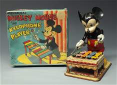 LINEMAR MICKEY MOUSE XYLOPHONE PLAYER  BOX