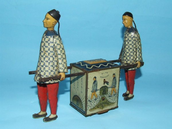 2: LEHMANN BUSY COOLIES KADI TEA CART TIN TOY #723