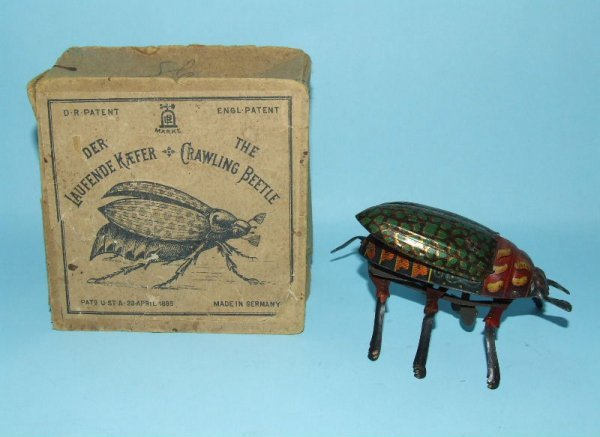 4: LEHMANN CRAWLING BEETLE TIN WIND UP TOY #431 & BOX