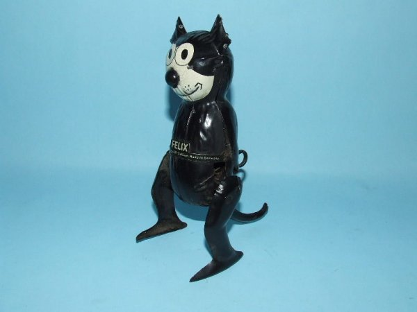 6: GUNTHERMANN GERMAN FELIX CAT TIN WIND UP WALKER