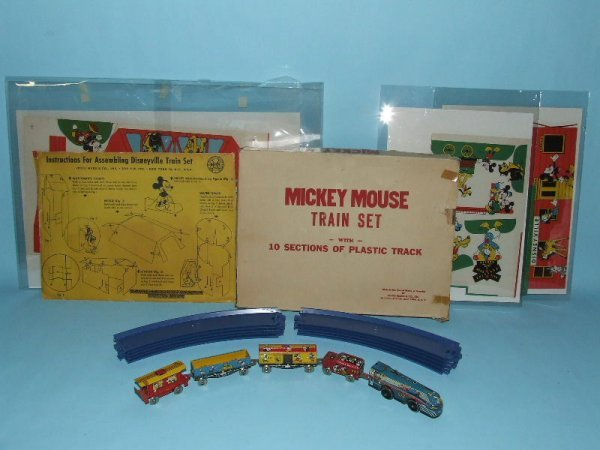 14: MARX MICKEY MOUSE DISNEY WIND UP TRAIN SET & BOX