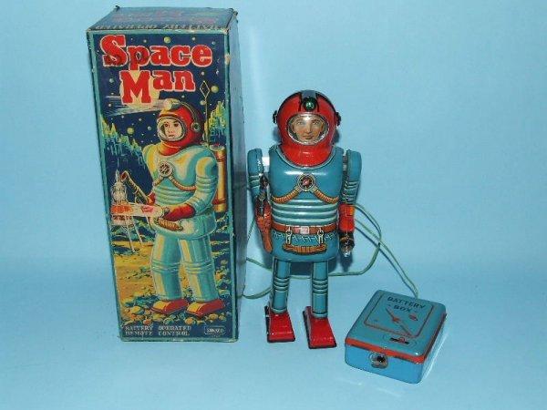 85: SONSCO NOMURA SPACE MAN ROBOT TIN BO TOY & BOX